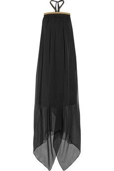Maison Martin Margiela Embellished chiffon and cady maxi dress | NET-A-PORTER