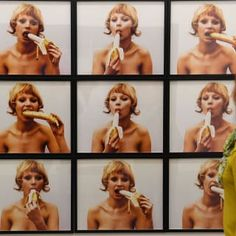 Protesters stage 'eat-in' as Polish gallery plans to ditch video installation of woman eating banana Updated April 2019 Natalia LL's 1973 artwork depicting a naked woman eating a banana is set to be removed from the National Museum in Warsaw on May Easy Vegetarian Lunch, Healthy Dinner Recipes, Eating Bananas, Marinated Pork Tenderloins, Art Projects For Adults, Types Of Vegetables, Video Installation, Sour Cream And Onion, Drawing Websites