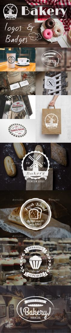 Bakery Logos & Badges #design Download: http://graphicriver.net/item/bakery-logos-badges/12952751?ref=ksioks