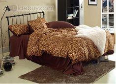 エレガントセクシーレオパード4点寝具セット60%サテンドリル