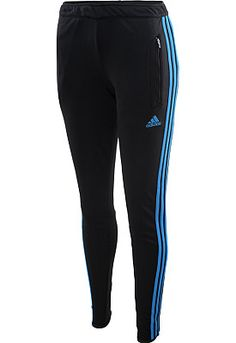 Women's @adidas Tiro 13 soccer pants are designed to keep you calm when the pressure is on, thanks to built-in Climacool moisture management. Ankle zippers promise easy on and off over cleats, and the women's-specific cut delivers a tailor-made fit. She'll love them! #GiftOfSport