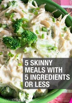 Quick and easy meals with 5 ingredients or less!