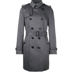 Burberry classic double breasted coat ($3,247) ❤ liked on Polyvore featuring men's fashion, men's clothing, men's outerwear, men's coats, grey, burberry mens coat, mens double breasted coat and mens grey coat