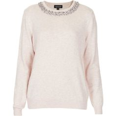 TOPSHOP Knitted Crystal Stud Jumper found on Polyvore | #SummerSpring #LightSummer #classic #style