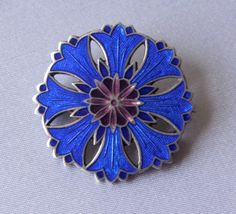 cornflower brooch