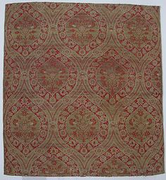 Fragment  Date:     16th century Geography:     Turkey Culture:     Islamic Medium:     Silk, metal wrapped thread; lampas (kemha) Dimensions:     Textile: H. 28 1/2 in. (72.4 cm) W. 26 in. (66 cm) Classification:     Textiles
