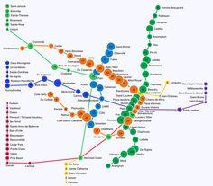 Visualising walksheds: transit useability | guardian.co.uk Sainte Therese, Feel Good Stories, Of Montreal, Saint Michel, Le Moulin, Urban Planning, Mini, Blog, Visualising