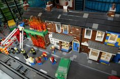 Coronation Street's Rovers Return fire recreated at Legoland Manchester New, Lego Pictures, Coronation Street, Trafford, Recent Events, Legoland, Fire, Entertaining, Bricks
