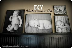 DIY Canvas Photo Wall art
