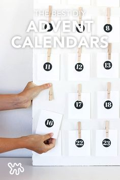 In December, every day leading up to Christmas is like a lil' mini Christmas with the help of an advent calendar. Whether you fancy the minimalist look, or you're waiting for inspiration to strike from the Target seasonal section, these 10 simple, no-frills DIY advent calendars are likely to fit in to any holiday decorating decor choices.