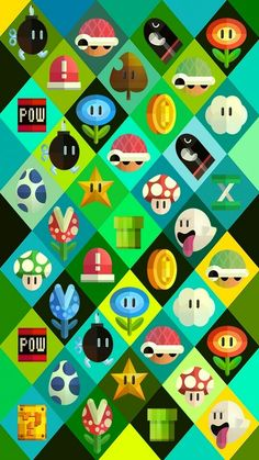 Mario items background wallpaper iphone smartphone