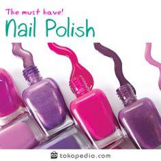 Hai Toppers, ada yang suka nail art? Nail art atau seni menghias kuku sedang ngetrend di kalangan wanita loh! Hal yang terpenting dalam nail art adalah warna dari kuteksnya. Ceriakan warna kukumu dengan aneka kuteks lengkap dan murah dari Tokopedia, dengan harga mulai dari 2 ribuan! Klik http://www.tokopedia.com/hot/nail-polish-kuteks