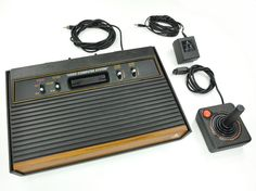 Atari 2600, our first video game system ever. Cartridges were still $50 a pop, even in the early 80's...