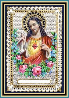 Holy Cards For Your Inspiration: *Sacred Heart of Jesus.May 29 Religious Images, Religious Icons, Religious Art, Jesus E Maria, Vintage Holy Cards, Les Religions, Blessed Mother Mary, Heart Of Jesus, Catholic Art