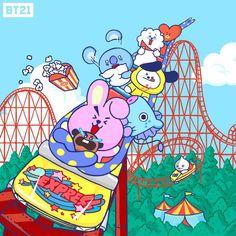 x line friends Bts Chibi, Foto Bts, Kpop, Fanart, Les Bts, Line Friends, Bts Drawings, Billboard Music Awards, Bts Fans