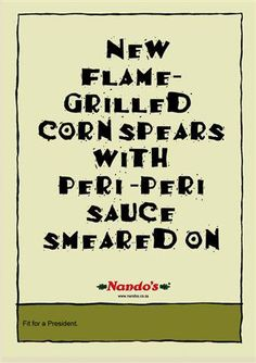 New Nandos Ad Pokes Fun at Zuma Painting Peri Peri Sauce, Infographic, Lol, Social Media, My Love, News, South Africa, Funny, Quotes