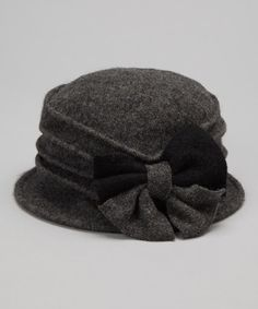 f0fd82fa69c60 Downtown Style Gray Two-Tone Bow Wool Bucket Hat
