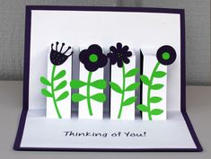 Mother's Day floral pop-up card papercraft