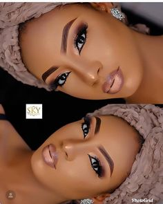 2019 Very Beautiful and Trendy Makeup Styles for Black Women - Makeup Black Bridal Makeup, Makeup For Black Skin, Black Girl Makeup, Girls Makeup, Wedding Makeup, Makeup Black Women, Black Brows, Wedding Hair, Wedding Blog