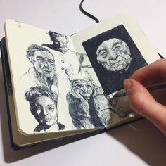 [orginial_title] – art drawing Very quick sketches! A bit quicker than usual! 😅 Very quick sketches! A bit quicker than usual! Moleskine Sketchbook, Arte Sketchbook, Sketchbooks, Drawing Sketches, Art Drawings, Sketching, Portrait Sketches, Pen Sketch, Dark Art