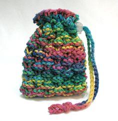Soap Bag Soap Saver Sack Soft Knit Washcloth by SticksNStonesGifts