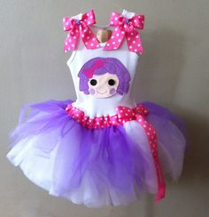 Lalaloopsy Pillow Featherhead party tutu dress by ChasenLondon. $65.00, via Etsy.