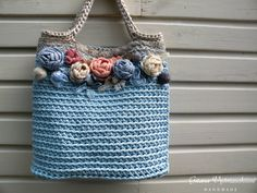 Crochet handbag / Rope handbag / Crochet rope bag / Summer crochet bag / Summer handbag / Crochet handbag / Handbag / Romantic handbag