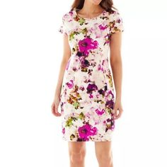 Liz Claiborne Watercolor Floral Dress
