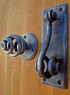 spiral contemporary forged ironwork door furniture handles | James Price Blacksmith Designer |