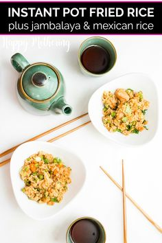 Learn how to make rice in the Instant Pot 3 ways: Jambalaya, Fried Rice and Mexican Rice. These recipes are easy, delicious and come out perfect every time. Whether you serve them as a side dish or a main dish for dinner, the whole family will love these recipes. #instantpotrice #instantpotrecipes #instantpot #friedrice #instantpotfriedrice #jambalaya #instantpotjambalaya #mexicanrice #instantpotmexicanrice #sidedish #sides #howto #pressurecooker #ricerecipes Dinner Dishes, Main Dishes, Mexican Rice Recipes, Asian Recipes, Pressure Cooker Rice, Jambalaya Recipe, Real Food Recipes, Free Recipes, Best Instant Pot Recipe