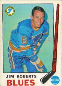 Jim Roberts - St. Louis Blues. 1969-70 O-Pee-Chee hockey card.