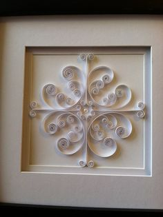 """White Ironwork"" paper quilling"
