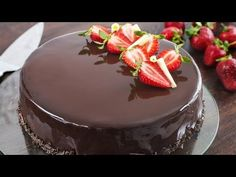 Strawberry Chocolate Mirror Cake :: Home Cooking Adventure