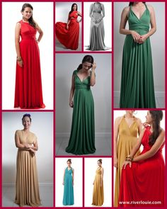 Long Maxi Length Gown Convertible Multiway by RiverLouie on Etsy, $40.00