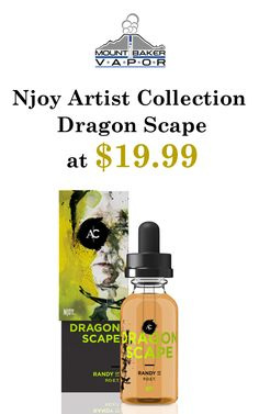 At Mt Baker Vapor, you can get Njoy Artist Collection Dragon Scape at $19.99.  This deal is currently activated on the site. For more Mt Baker Vapor Coupon Codes visit: http://www.couponcutcode.com/stores/mount-baker-vapor/