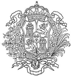 spanish coat of arms Family Crest Tattoo, Family Shield, Family History Book, Strange History, History Facts, Symbol Logo, Crests, African History, Coat Of Arms