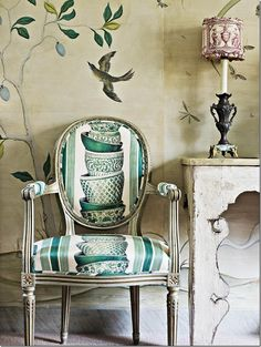 Love the print on these chairs--How fun!