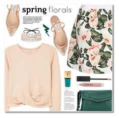 Spring florals by fshionme on Polyvore featuring polyvore, fashion, style, MANGO, Jimmy Choo, Burberry, Yves Saint Laurent and clothing