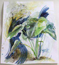 Caladium Leaf by Mary Jo Major