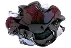1910-1950 Deep Purple Murano Dish from Italy. I absolutely love this bowl!!
