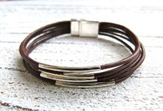 Bracelet leather brown by Charmecharming 17,00 €