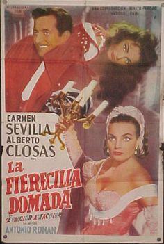 COLECCIÓN DE CARTELES ANTIGUOS DE CINE- La fierecilla domada 1956, con Carmen Sevilla, Alberto Closas y Manolo Gómez Bur Spanish, Cinema, Film, Movies, Movie Posters, Tv, Decor, Vintage Posters, Theater