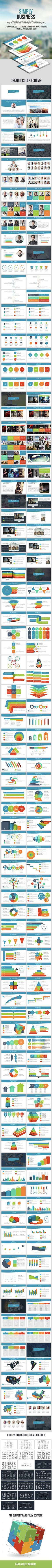 Simply Business Powerpoint Presentation Template - Business PowerPoint Templates