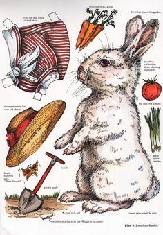 Rabbit Paper Doll Printable