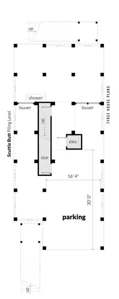 Scuttle Butt House Plan by Tyree House Plans Parking Plan, Parking Building, Building Plans, Roof Truss Design, Wood Truss, Home Structure, Electrical Plan, Beach House Plans, Roof Trusses