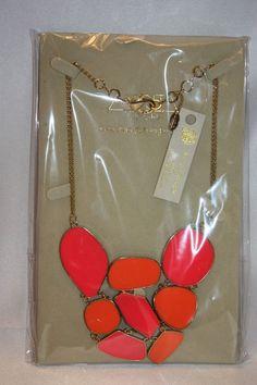 NEW! NWT! AMRITA SINGH Pink Orange GRAND STREET Statement Necklace NKC1525 Boxed #AmritaSingh #Statement