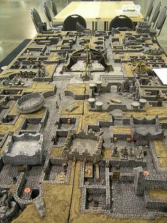 A block modular approach to dungeon building.