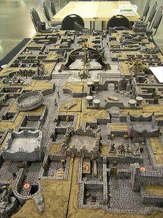A block modular approach to dungeon building.