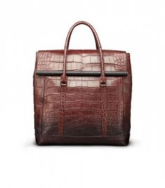 Burberry crocodile alligator holdall in rust ombre is to-die-for, fall fashion trend style tips