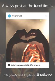 """Tailwind for Instagram scheduling and analytics gets you more likes and comments on your Instagram posts with its """"smart schedule"""" that ensures you post at the right times, has an intuitive interface that saves hours, and a browser extension that enables you to schedule posts from around the web, in bulk, in moments."""